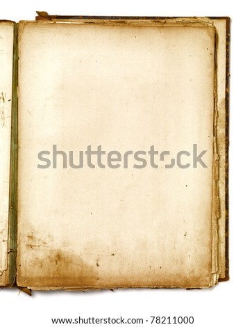 paper texture of old clear workbook - stock photo