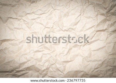 Paper texture - old paper sheet / wrinkled paper texture background - stock photo