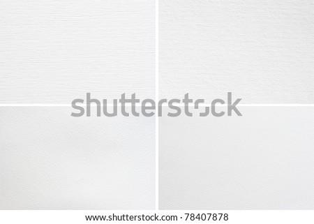 paper texture set - stock photo