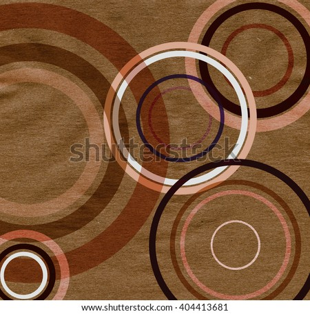 paper texture with colorful circles - stock photo