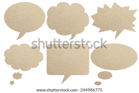 Paper textured speech bubbles