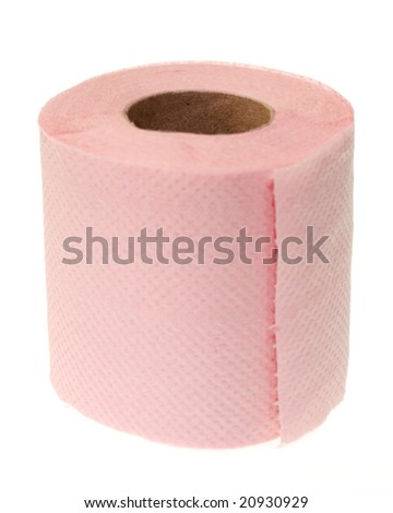 paper towel on white background - stock photo