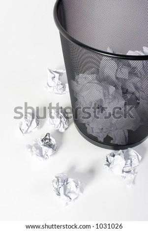 Paper trash - stock photo