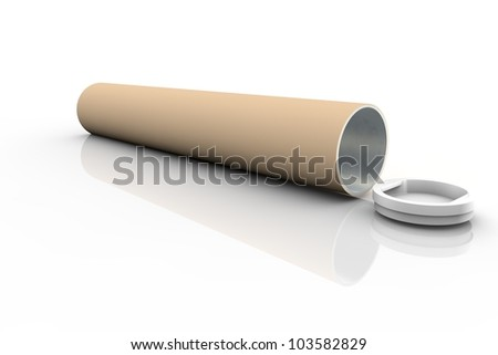 Paper tube - stock photo