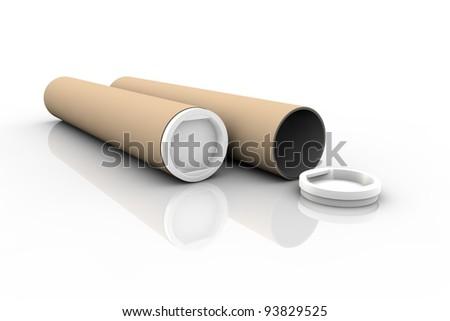 Paper tubes - stock photo