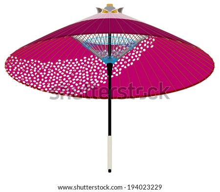 Paper umbrella of Japan, for spring