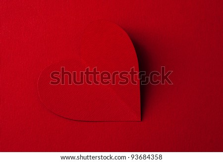 Paper Valentine's heart. Look through my portfolio to find more images of the same series - stock photo