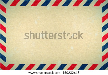 Paper with a frame in red white blue stripes
