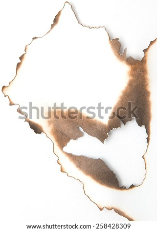 paper with burnt edges - stock photo