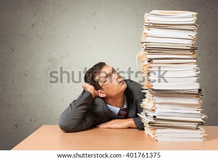 Paper work. - stock photo