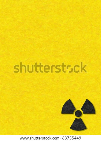 Paper work of Radioactive Sign - stock photo