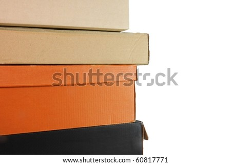 Paperboxes isolated on white