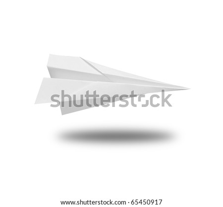 Paperplane - stock photo