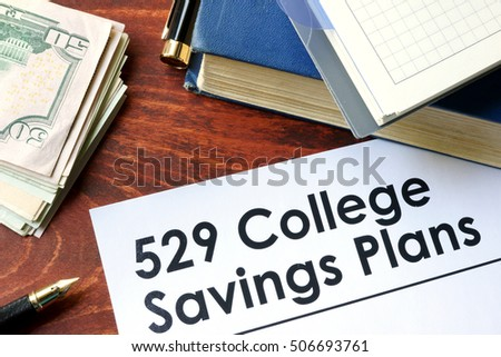 Paper words weekly health savings account stock photo for 527 plan