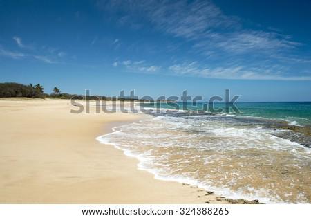 Papohaku Beach Park, Molokai, Hawaii-5 - stock photo