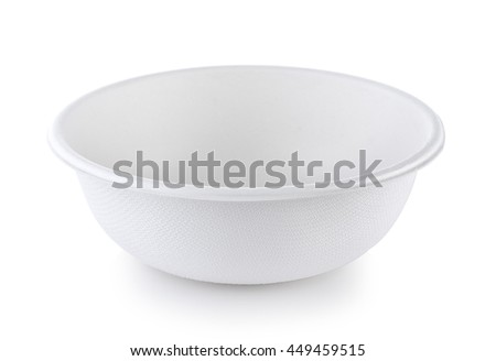papper bowl on white background - stock photo