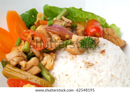 Paprick rice - malaysian food - stock photo
