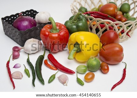 Paprika and cooking ingredients - stock photo