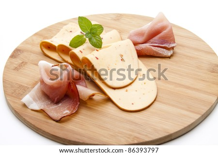 Paprika cheese with ham