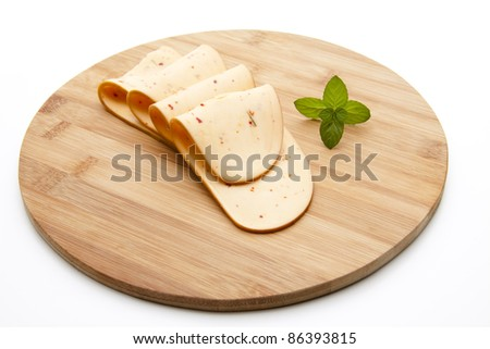 Paprika cheese with mint