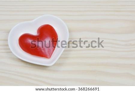 paprika heart shape - stock photo