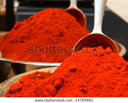 Paprika in the market