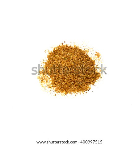 Paprika isolated on white background.
