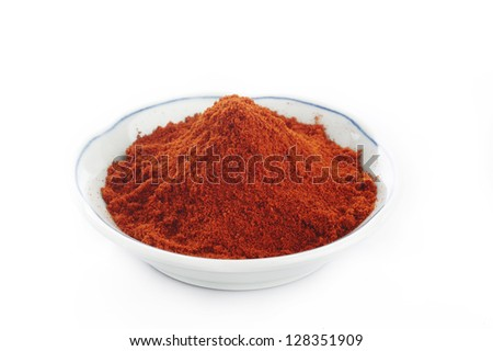 paprika powder in  bowl
