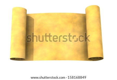 papyrus header roll - stock photo