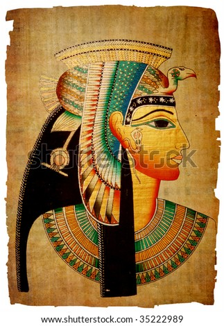 Papyrus. Old natural paper from Egypt - stock photo
