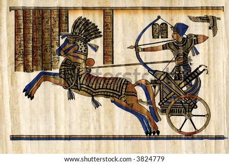 Papyrus Pharaoh - stock photo