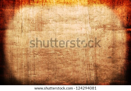 papyrus - vintage paper with space for text or image with lighting gradient - stock photo