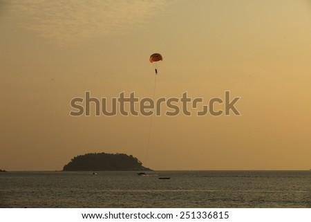 Para-glider - stock photo