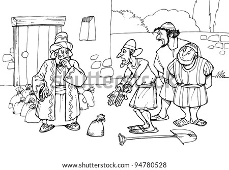Parable stock images royalty free images vectors for Parable of the wedding feast coloring page