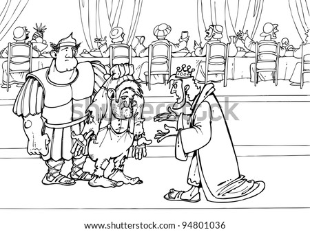 Parable jesus christ about wedding feast stock for Parable of the wedding feast coloring page