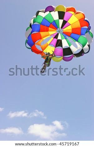 Parachute jump - stock photo