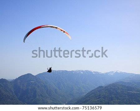 parachutist - stock photo
