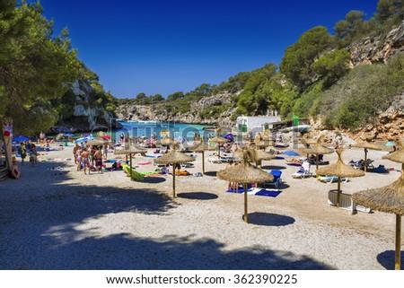 Paradise Beach at Cala Pi, Mallorca - stock photo