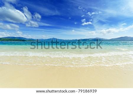 Paradise beach. Sea and sky. - stock photo