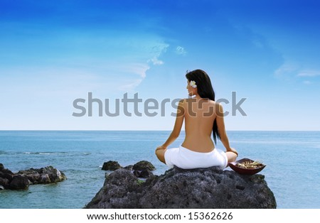 Paradise Found -- genuine outdoor serenity. - stock photo