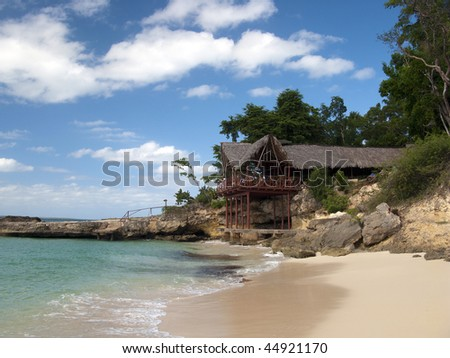 Paradise Island and beach - stock photo