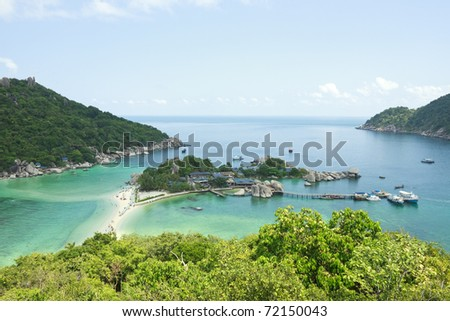 Paradise island in fantastic view - stock photo