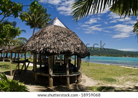 Paradise Island in the south sea, samoa.