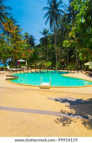 Paradise Pool Tourist Dream - stock photo