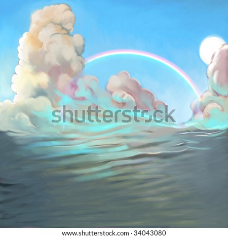 Paradise (search the word nikos for more) - stock photo