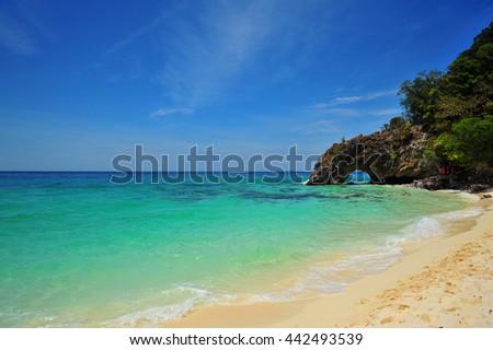 Paradise Summer Beach in Thailand - stock photo