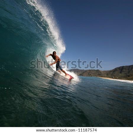 paradise surfer - stock photo