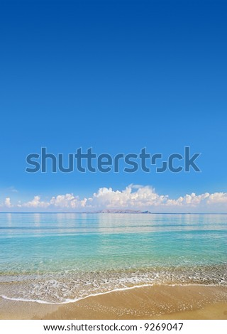 Paradise Tropical Beach - Great for Cover page of magazine or similar - stock photo