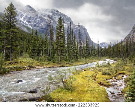 Paradise Valley, Lake Louise, Banff National Park Alberta, Canada  - stock photo