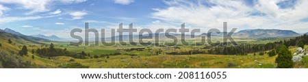 Paradise Valley Panorama - stock photo